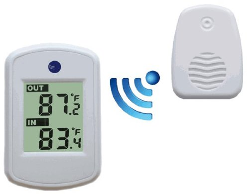 Ambient Weather Ws 04 White Wireless Thermometer Compact