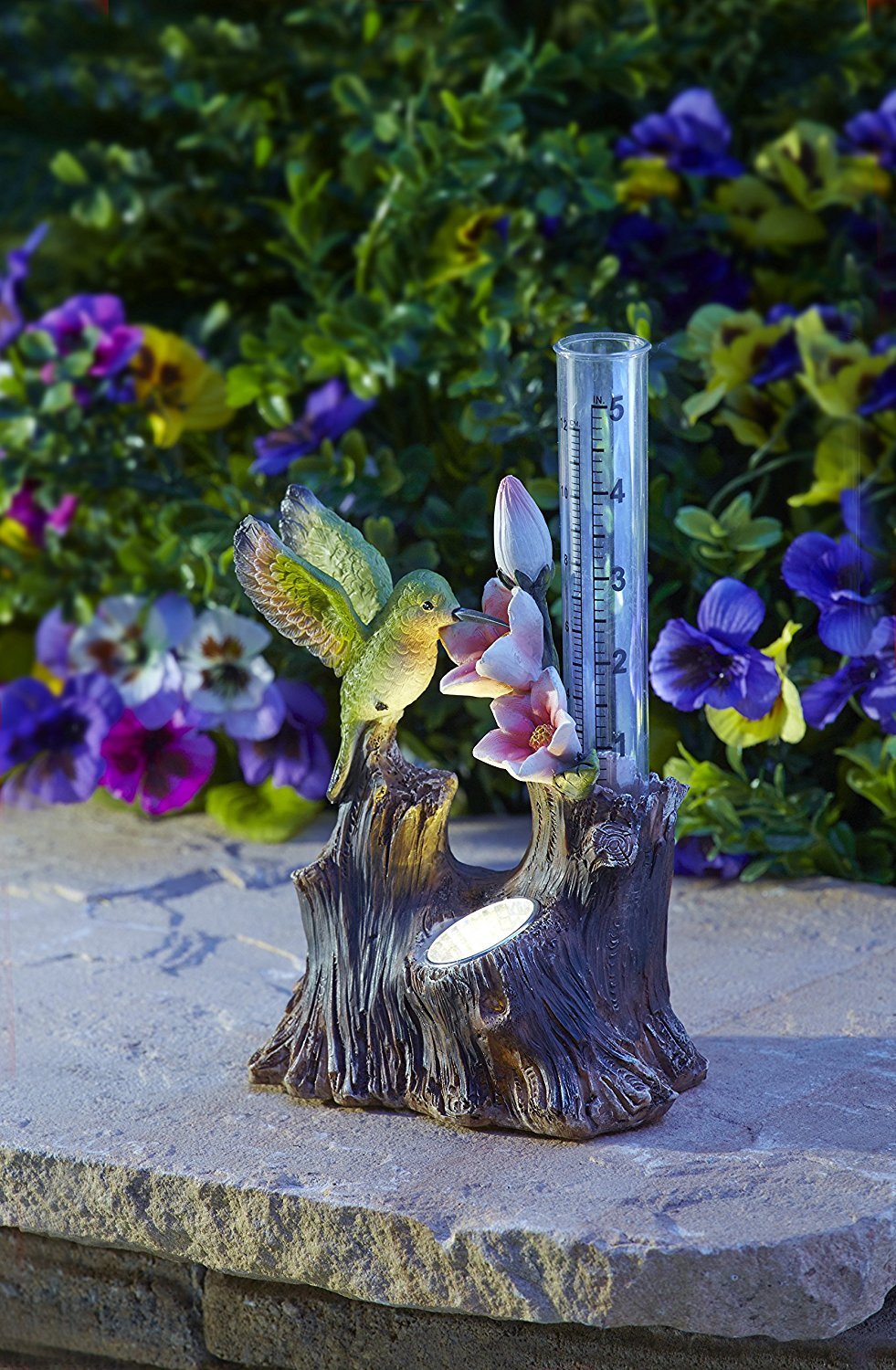 Generally This Moonrays 95071 Solar Ed White Led Hummingbird Rain Gauge Is One Of The Unique Products